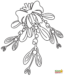 mistletoe coloring page free download
