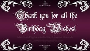 a big thank you to all the lovely who sent me birthday