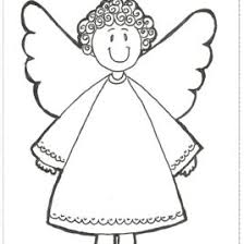 simple angel coloring kids drawing coloring pages