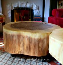 Wood Slice Coffee Table Diy Table From Large Tree Slices Hometalk