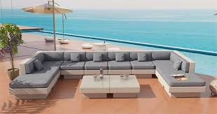 Wicker Sectional Patio Furniture by Venice Beach Outdoor Wicker U Shaped Sectional Sofa By Las Vegas