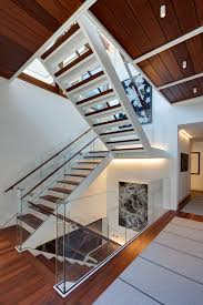 modern stair runner staircase industrial with striped runner