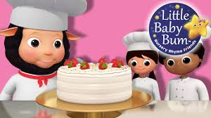 bake bake a cake nursery rhymes by littlebabybum youtube