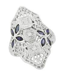 art silver rings images Antique filigree sterling silver rings silver engraved rings jpg