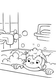 curious george bathtub coloring netart