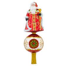 christopher radko ornaments radko festive fellow finial santa tree