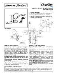 American Standard Kitchen Faucet Parts Diagram by Indoor Furnishings Users Guides