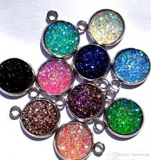necklace making charms images Resin druzy beads for jewelry making loose lampwork charms diy jpg