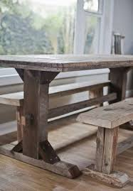 Farm Dining Table With Bench Foter - Kitchen table and bench