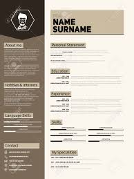 Best Resume Templates With Photo by Minimalist Cv Resume Template With Simple Design Royalty Free