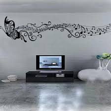 Home Decor Decals Art Mural Home Decor Wall Room Butterfly Music Notes Removable