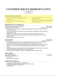 Best Resume For Customer Service Representative by Chic Ideas A Professional Resume 1 Best Resume Examples For Your