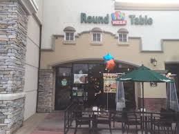 round table pizza rancho santa signage and patio area yelp