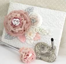 Shabby Chic Wedding Guest Book by Wedding Guest Book And Pen Set Shabby Chic Vintage Inspired In