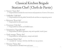 chef de cuisine definition near east of tourism and hospitality management