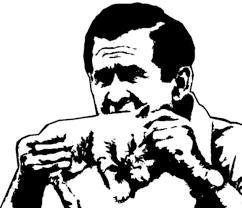 bush eating kitten stencil by x0negativezero0x on deviantart