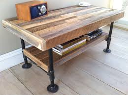 Woodworking Plans Coffee Table Legs by Industrial Wood U0026 Steel Coffee Table Or Media Stand Reclaimed