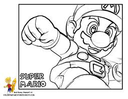 mario bros coloring super mario bros free coloring pages