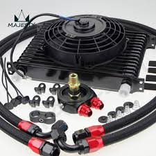 oil cooler with fan universal 15 row engine transmission 10an oil cooler kit 7