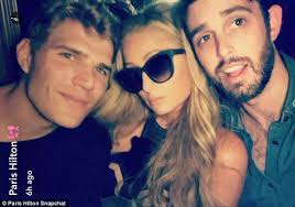Paris Hilton parties with beau Chris Zylka   Daily Mail Online Daily Mail Three     s a crowd  But that did not stop the pair from posing up with a