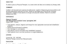 Resume Examples For Physical Therapist by Resume Templates Physical Therapist Resume Physical Therapist