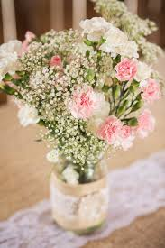 baby s breath centerpiece pink carnation and baby s breath centerpieces