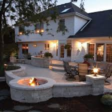 stamped concrete patio as patio furniture and fancy back patios