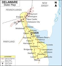 delaware road map usa delaware map map of delaware cities and roads