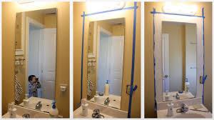 bathroom mirrors awesome diy bathroom mirror frame ideas home