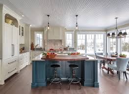 farmhouse island kitchen farmhouse kitchen with blue island home bunch interior design