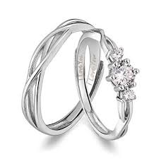 couples rings silver images Anazoz his hers couples rings set s925 sterling silver zirconia jpg