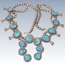 blue gem necklace images Impressive squash blossom necklace blue gem turquoise sterling jpg