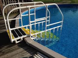 classy interesting above ground pool steps for decks confer heavy