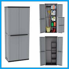 outdoor utility cabinet 2 door plastic cupboard shelves storage