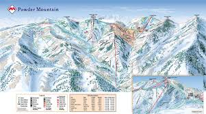 Utah Ski Resort Map by The Snow Junkies U2013 Powder Mountain