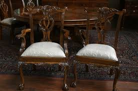 Chippendale Bedroom Furniture Thomasville Mahogany Chippendale Dining Chairs Fine Reproduction Furniture