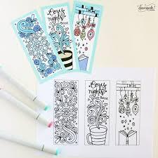 winter bookmarks coloring page dawn nicole designs
