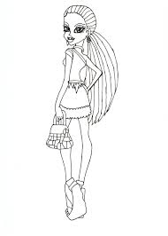 free printable monster high coloring pages abbey scaris free