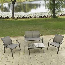 4 pcs outdoor patio steel table chairs outdoor furniture sets