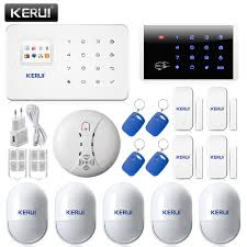 russian english wireless keypad rfid arm disarm kerui g18 gsm tft