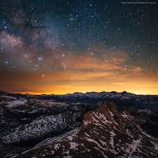 wallpaper yosemite 5k 4k wallpaper 8k forest stars sunset