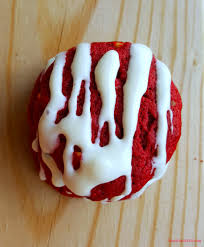 red velvet cookies with cream cheese drizzle mom does it all