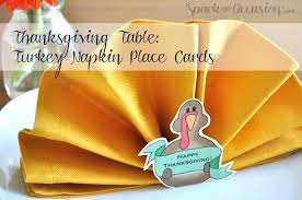 turkey napkin place cards napkin folding free