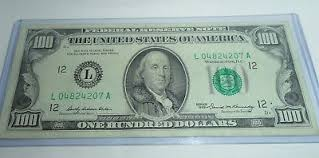 1969 100 one hundred dollar bill san francisco federal reserve note