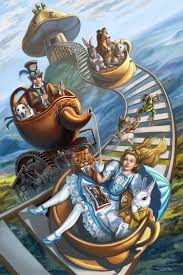 steampunk alice in wonderland teacup rollercoaster by rebelakemi
