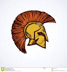spartan helmet vector drawing stock vector image 91170270