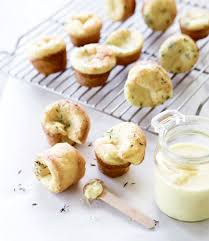 thyme popovers with pear butter
