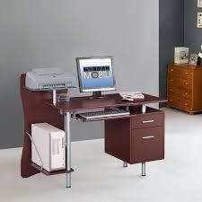 Computer Desks With Storage Techni Mobili Computer Desk With Storage Chocolate Walmart