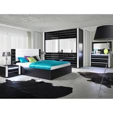 armoire chambre noir laqué meuble chambre pas cher