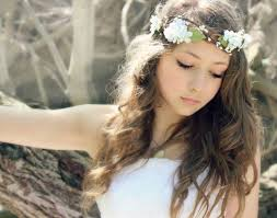 flower hairband jewels white flower crown white flowers floral headband
